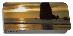 Cannon Beach November Evening Portable Battery Charger