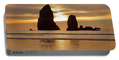 Cannon Beach November Sunset Portable Battery Charger