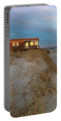Cape Cod Beach House At Sunset Portable Battery Charger