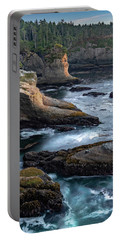Portable Battery Charger featuring the photograph Cape Flattery by Ed Clark