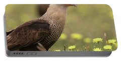 Caracara In Wildflowers Portable Battery Charger
