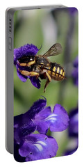Carder Bee On Salvia Portable Battery Charger