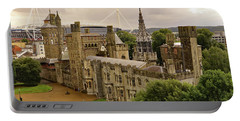 Portable Battery Charger featuring the photograph Cardiff Castle by Tony Murtagh