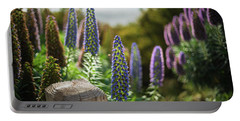 Carmel By The Sea Echium Flowers Beach Portable Battery Charger