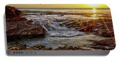Cascading Sunset At Crystal Cove Portable Battery Charger
