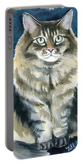 Casey Cat Painting Portable Battery Charger