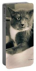 Cat Boticas Portrait  7 Portable Battery Charger