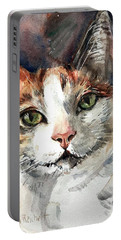 Cat In Watercolor Portable Battery Charger
