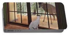 Cat Meets Deer Portable Battery Charger