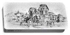 Cathedral Basilica Of St. Francis Of Assisi - Santa Fe, New Mexico Portable Battery Charger