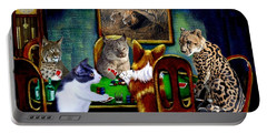 Cats Are Wild Poker Portable Battery Charger