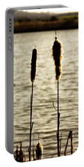 Cattails In The Sun Portable Battery Charger