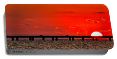 Portable Battery Charger featuring the photograph Causeway Sunset by Tom Gresham