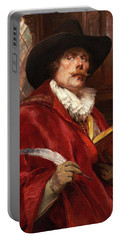 Cavalier Writing In A Book Portable Battery Charger