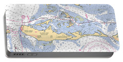 Cayo Costa Nautical Chart Portable Battery Charger