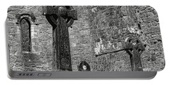 Celtic Cross At Cong Abbey Portable Battery Charger