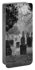 Cemetery In The Pines Bw Portable Battery Charger