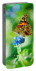 Chalky Painted Lady Butterfly Portable Battery Charger