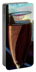 Portable Battery Charger featuring the photograph Champagne Glass Lipstick by Bill Swartwout Fine Art Photography