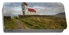Chapel Of Iceland Portable Battery Charger