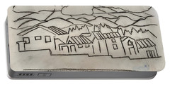 Charcoal Houses Sketch Portable Battery Charger