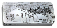 Charcoal Pencil Houses.jpg Portable Battery Charger