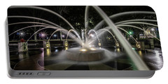 Charleston's Splash Fountain At Night Portable Battery Charger