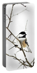 Charming Winter Chickadee Portable Battery Charger