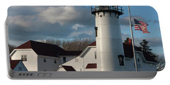 Chatham Coast Guard Lighthouse Along The Cape Portable Battery Charger