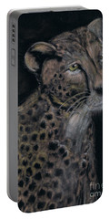 Cheetah Portrait In Pastels Portable Battery Charger