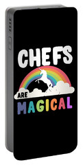 Portable Battery Charger featuring the digital art Chefs Are Magical by Flippin Sweet Gear