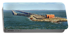 Portable Battery Charger featuring the photograph Chesapeake Bay Bridge Tunnel E S V A by Bill Swartwout Fine Art Photography