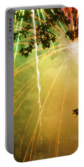 Yellow Fireworks Portable Battery Charger