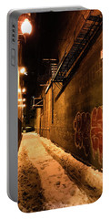 Chicago Alleyway At Night Portable Battery Charger