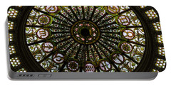 Chicago Cultural Center Tiffany Dome Sq Format Portable Battery Charger