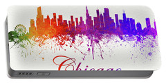 Chicago Illinois Skyline 13 Portable Battery Charger