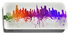 Chicago Illinois Skyline 7 Portable Battery Charger
