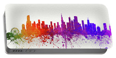 Chicago Illinois Skyline 8 Portable Battery Charger