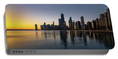 Chicago Lakefront Dawn Portable Battery Charger