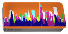 Chicago Pop Art Skyline Portable Battery Charger