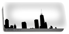 Chicago Skyline High Key Graphic Portable Battery Charger