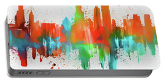 Chicago Skyline Modern Abstract Portable Battery Charger