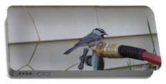 Chickadee On A Spigot Portable Battery Charger