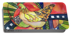 Chicken Red Portable Battery Charger