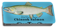 Chinook Salmon Disrupted Portable Battery Charger