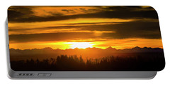 Portable Battery Charger featuring the photograph Chinook Sunset by Philip Rispin