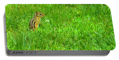 Chipmunk And The Flower Portable Battery Charger
