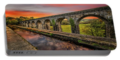 Chirk Aqueduct Sunset Portable Battery Charger