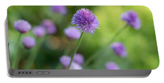 Chive Blossoms Portable Battery Charger