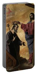 Christ Crowning Saint Joseph, 1640 Portable Battery Charger